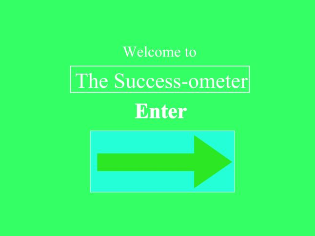 Start page- Success-ometer