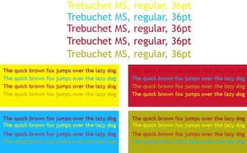 Trebuchet MS colour scheme 2
